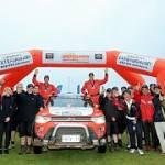 Mitsubishi Outlander PHEV finisht in Australasian rally